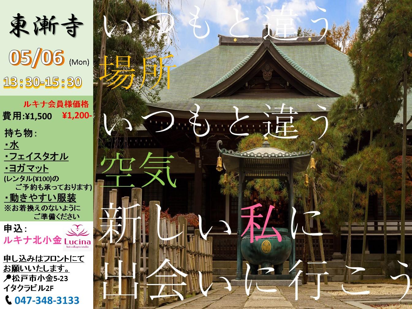 『寺ヨガ』in東漸寺 初開催決定!! 5/6(月)祝 大安